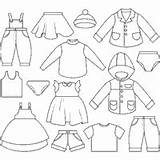 Clothing Coloring Clothes Different Pages Clothesline Aids Visual Printable Boy Surfnetkids Outfits Templates Template Shoes Clipart Vectors Types Vector Illustration sketch template