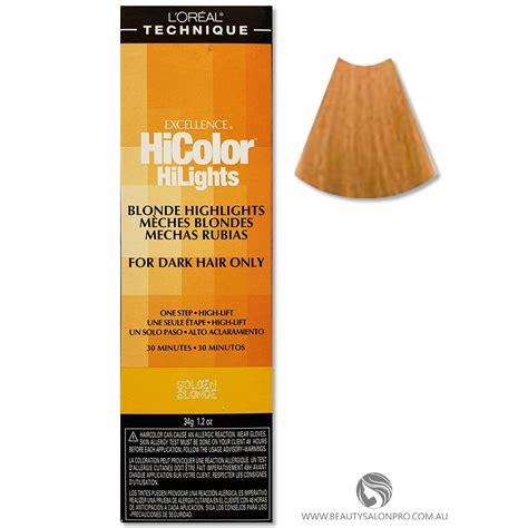 loreal excellence hicolor golden blonde hilights  dark