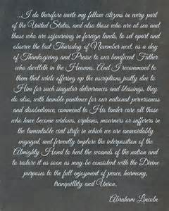 abraham lincoln 39 s thanksgiving proclamation printable domestically speaking