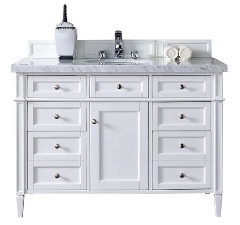bathroom vanity cabinets with tops contemporary 48 inch single bathroom vanity white finish