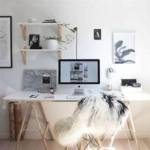 Schreibtisch Dunkles Holz : die besten 25 arbeitsplatz ideen auf pinterest design studio b ro b rom bel design und ~ Indierocktalk.com Haus und Dekorationen