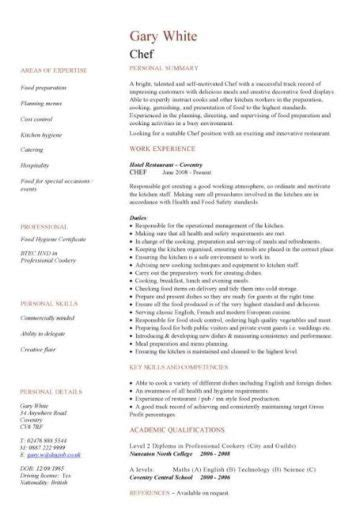 catering cv template samples catering jobs event