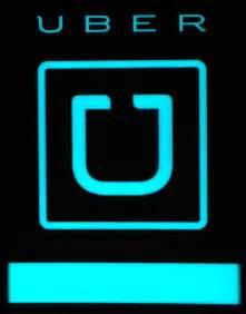 Uber Car Window Sign