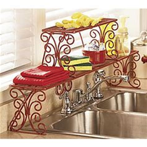 Red Over The Sink Shelf by Scroll Apple Over The Sink Shelf Kitchen Accessories