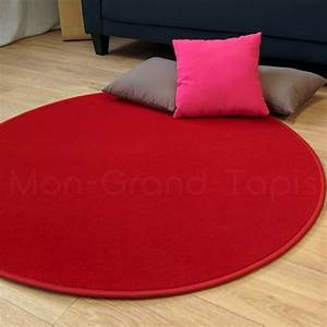 tapis rond rouge modena par vorwerk With tapis rouge rond