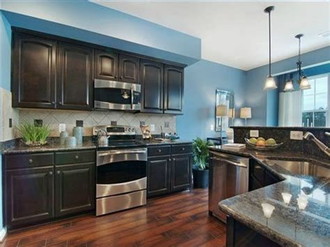 Blue Kitchen Walls With Brown Cabinets by Kitchen Idea 1 Bright Blue Wall Cabinet Weathered