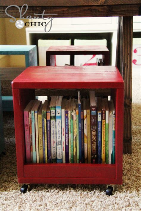 desk with storage cubes playroom table diy shanty 2 chic