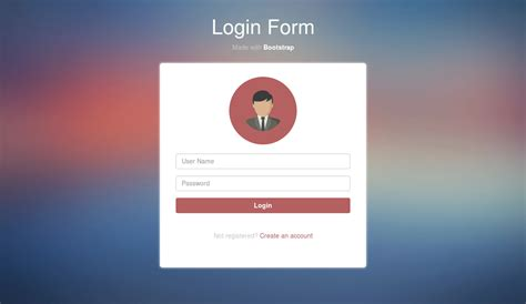simple login form design using bootstrap nicesnippets