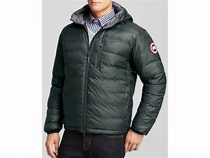 Canada Goose Lodge Hooded Down Jacket In Black For Men Lyst