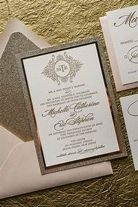 abigail suite styled fancy glitter package With elegant sparkly wedding invitations