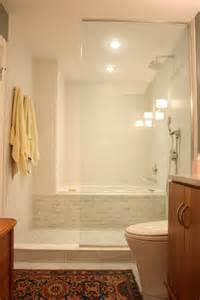 neat idea for narrow baths to make them seem bigger bathtub shower combo idea home
