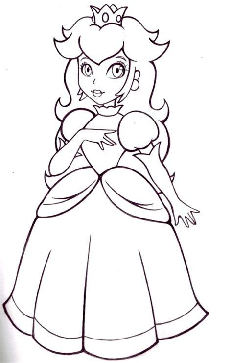 princess peach coloring pages  kids