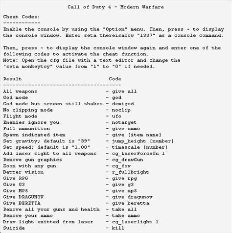 games mania call  duty  modern warfare    cheats