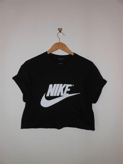 tshirt nike black 6 classic black nike swag style crop top tshirt fresh