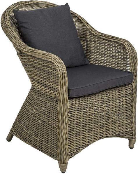 bol aluminium wicker tuinstoel luxe met zitkussen - 6 Tuinstoelen Aluminium