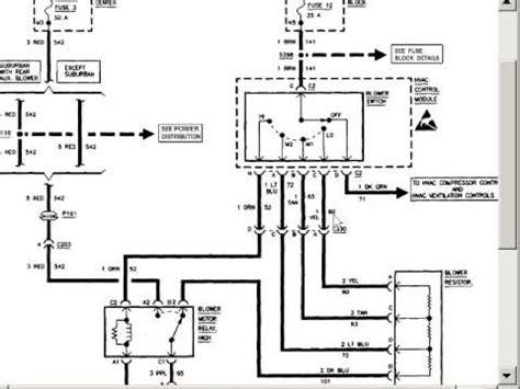 2006 chevy silverado blower motor resistor wiring diagram