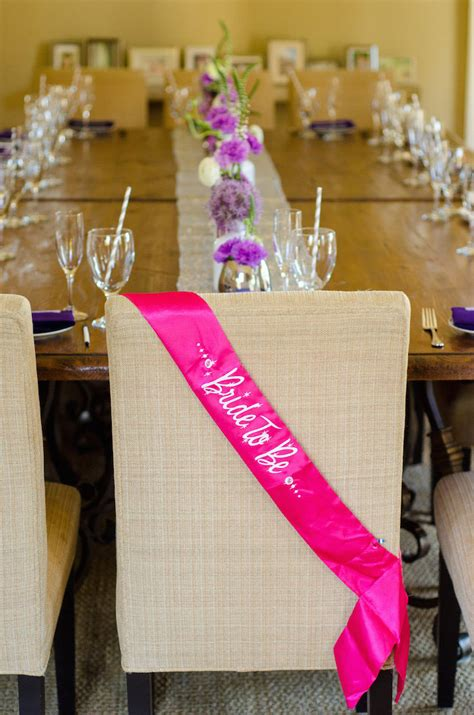 purple  silver bridal shower ideas themes