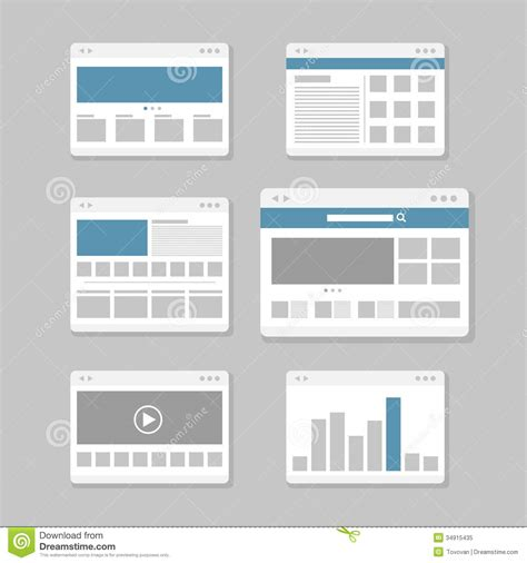 Web Site Page Templates Stock Vector Image Of Minimalism
