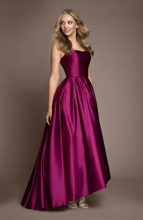 strapless satin ballgown dance dresses