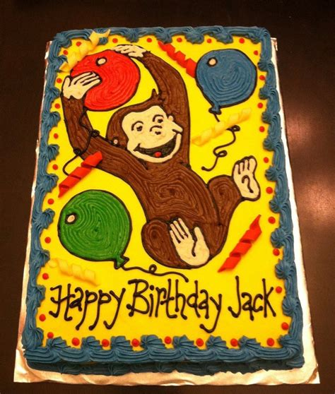 gallery  curious george sheet cake adams st