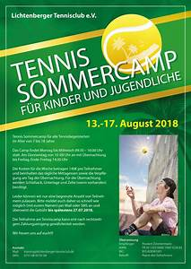 Lichtenberger Sommer 2018 : sommercamp 2018 lichtenberger tennisclub e v ~ Watch28wear.com Haus und Dekorationen