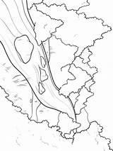 River Coloring Nature Mycoloring Fluss Ausmalbilder Printable Malvorlagen Ausdrucken Kostenlos Zum sketch template