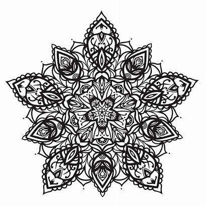 Mandala Coloring Pages Floral Modern