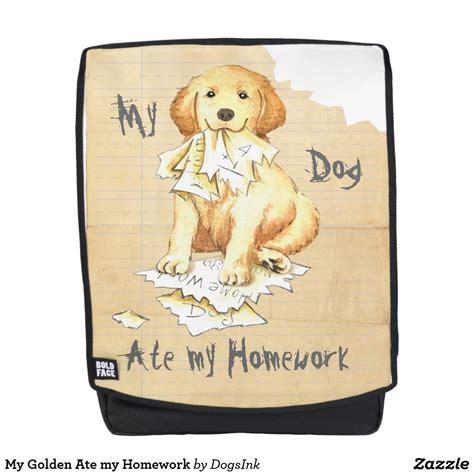 my golden ate my homework backpack zazzle poppy