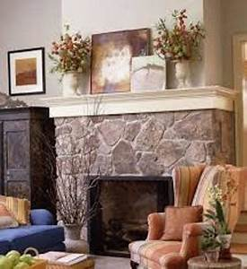 How, To, Decorate, A, Rock, Fireplace, Mantel, 5, Ways, For, Traditional, Mantel
