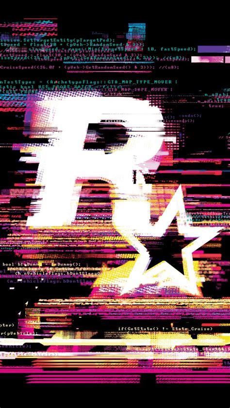 wallpaper rockstar games logo glitch  creative