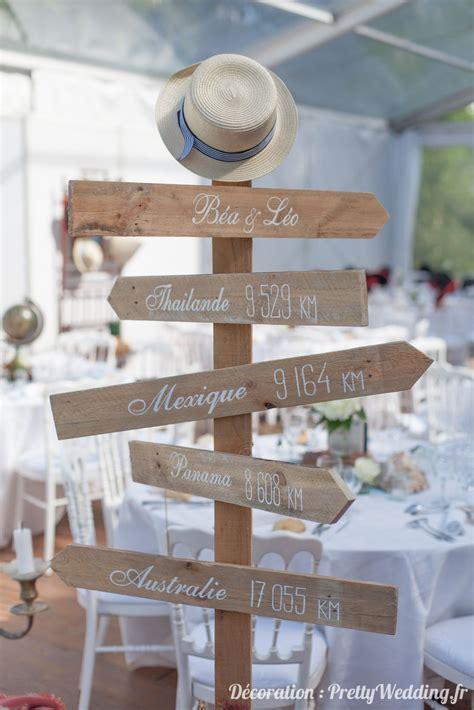 une decoration de mariage autour du voyage pretty