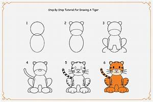 Simple Tiger Drawing For Kids