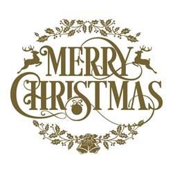 vinyl christmas text merry christmas