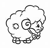 Lamb Coloring Sheep Drawing Had Mary Cartoon Printable Pages Lion Line Getdrawings Clipartmag Draw Getcolorings sketch template