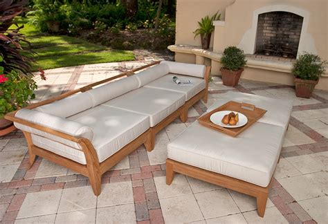 teak sectional sofa oana outdoor  piece acacia wood