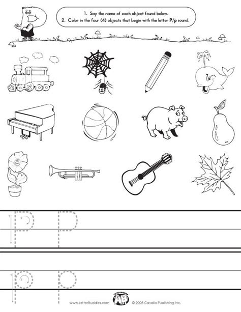 letter p initial sound worksheet initial sounds