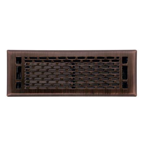 shop allen roth manhattan oil rubbed bronze steel floor