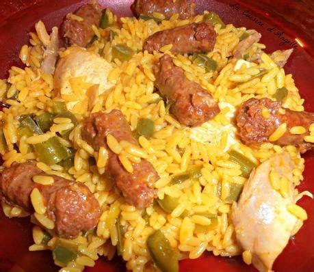 cuisiner reste de riz riz aux merguez poivrons et reste de poulet roti paperblog