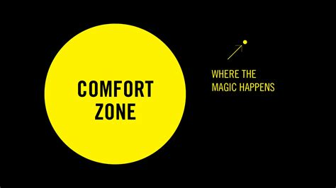 the comfort zone out of your comfort zone