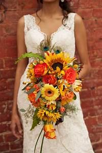 Bouquet De Mariage : sunflower cascading wedding bouquet for wedding ~ Preciouscoupons.com Idées de Décoration