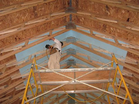 Insulating A Cathedral Ceiling Spray Foam by Country Insulation Icynene Insulation System