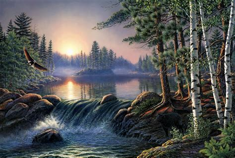 Artistic Nature Wallpaper by Boundary Waters Hd Wallpaper Background Image
