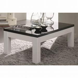 Table Basse Noire Design : table basse carr e design laqu e blanche et noire loana matelpro ~ Carolinahurricanesstore.com Idées de Décoration