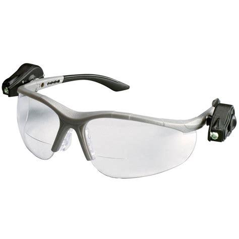 safety glasses with led lights 3m light vision2 led bifocal safety glasses with clear