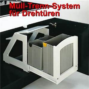 Mülleimer Für Küche : auszug m lleimer abfalleimer k che 3 fach trennung ~ Michelbontemps.com Haus und Dekorationen