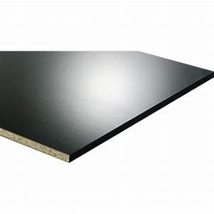 Planche Mélaminé Blanc : tablette m lamin glossy noir x cm x mm ~ Dode.kayakingforconservation.com Idées de Décoration