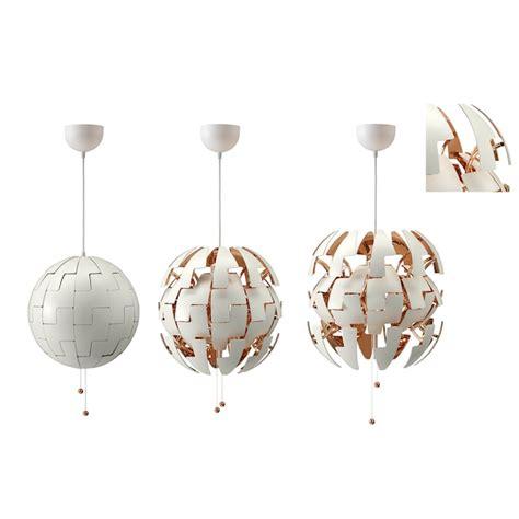 ikea ps  pendant lamp white copper color  ikea