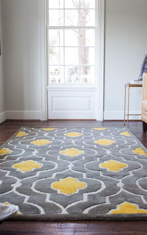 gorgeous floor rug yellow gray rug wayfair matches