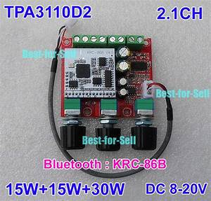 Tpa3110d2 2 1ch Bluetooth Subwoofer Stereo Audio Amplifier Board 15w  2 30w Amp 699932498186