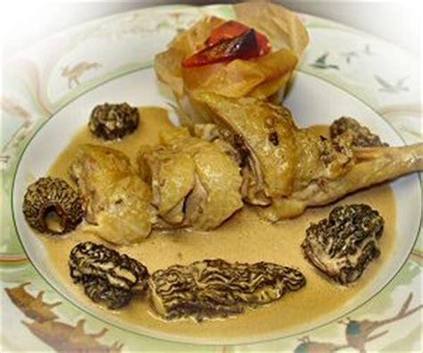 cuisine franc comtoise interfrance recette de la poularde aux morilles cuisine